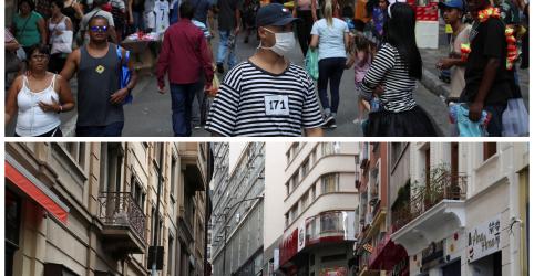 Placeholder - loading - São Paulo tem 1º dia de quarentena por coronavírus; mortes no Estado vão a 40