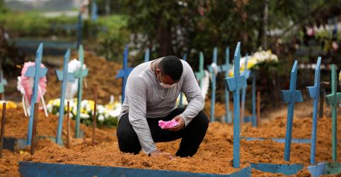 Placeholder - loading - Brasil tem recorde diário com 615 novas mortes por coronavíurs e total no país vai a 8.536