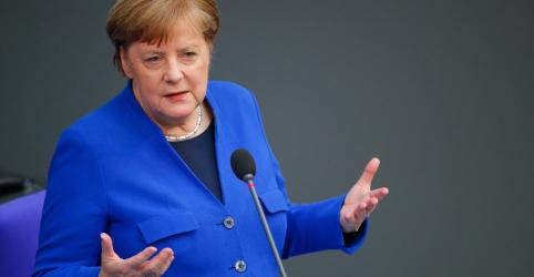 Pandemia será rapidamente superada se todos países trabalharem juntos, diz Merkel