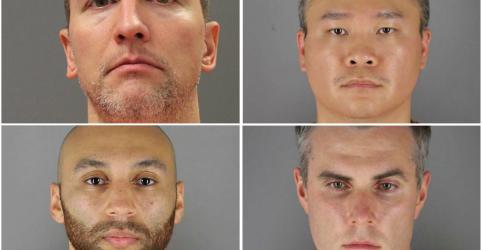 Placeholder - loading - Imagem da notícia Ex-policiais de Mineápolis indiciados por morte de George Floyd comparecem a tribunal
