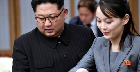Placeholder - loading - Imagem da notícia Irmã de líder norte-coreano diz que nova cúpula é improvável, mas pode acontecer 'surpresa'