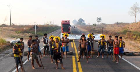 Placeholder - loading - Imagem da notícia Indígenas fazem novo bloqueio à BR-163; paralisações afetam setor de grãos