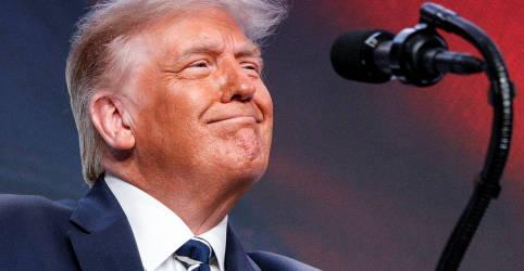 """Placeholder - loading - Atacado pelos democratas, Trump rebate com acusação de """"anarquia total, loucura e caos"""""""