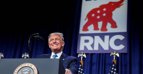 Placeholder - loading - Imagem da notícia Republicanos indicam Trump a reeleição em convenção reduzida na Carolina do Norte