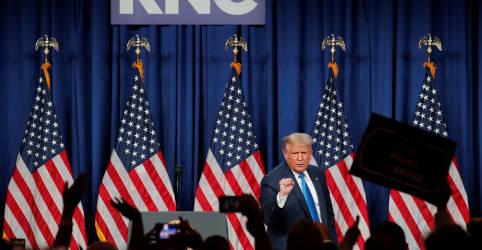 Placeholder - loading - Em primeira aparição na convenção republicana, Trump alerta para fraude nas eleições