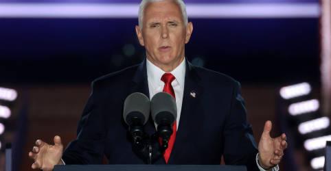 Placeholder - loading - Imagem da notícia Vice-presidente dos EUA alerta contra vitória de Biden em discurso sobre 'lei e ordem'
