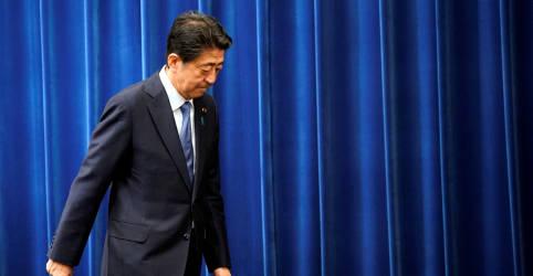 Placeholder - loading - Imagem da notícia Primeiro-ministro do Japão renuncia por questões de saúde