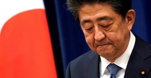 Placeholder - loading - Imagem da notícia Primeiro-ministro do Japão renuncia por motivos de saúde