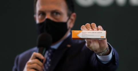 Placeholder - loading - Imagem da notícia 'Não é hora de vacilação, mas de vacinação', diz Doria ao cobrar ajuda federal a vacina testada por SP