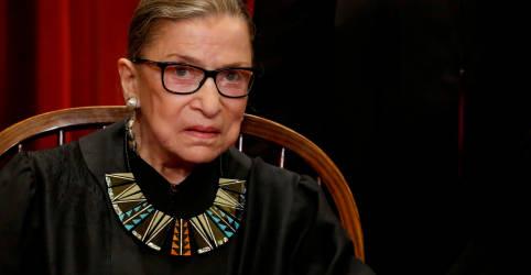 Placeholder - loading - Imagem da notícia Juíza da Suprema Corte dos EUA Ruth Ginsburg morre aos 87 anos de câncer no pâncreas