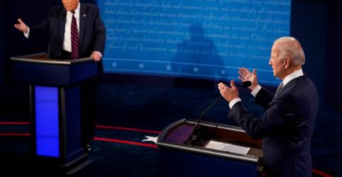 Placeholder - loading - Imagem da notícia Interrupções e insultos marcam primeiro debate entre Trump e Biden