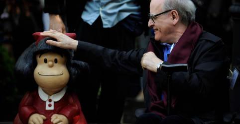 Placeholder - loading - Imagem da notícia Cartunista argentino Quino, pai da Mafalda, morre aos 88 anos