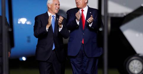 Placeholder - loading - Trump e Pence manterão distância após presidente testar positivo para Covid-19, diz autoridade