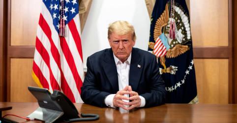 Placeholder - loading - Imagem da notícia Trump diz que deixará hospital nesta 2ª; Casa Branca é atingida por onda de infecções