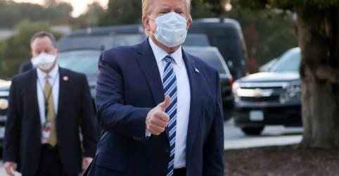 Placeholder - loading - Trump deixa hospital e volta para uma Casa Branca fortemente atingida pelo coronavírus