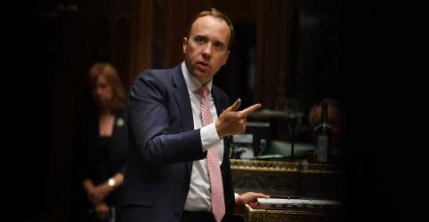 Placeholder - loading - Imagem da notícia Números crescentes de Covid-19 mostram que Reino Unido tem sério problema, diz ministro da Saúde