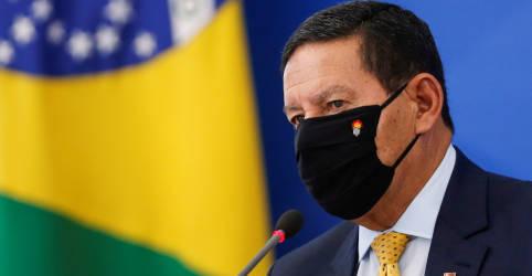 Placeholder - loading - Imagem da notícia Mourão diz que gerações futuras não podem pagar por irresponsabilidade fiscal