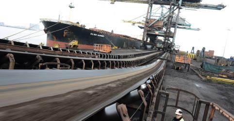 Placeholder - loading - Ritmo de exportação de minério de ferro do Brasil cai 11,3% até a 2ª semana de outubro