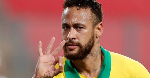 Placeholder - loading - Imagem da notícia Neymar marca três vezes e ajuda Brasil a vencer Peru nas eliminatórias