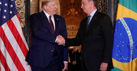 Placeholder - loading - Bolsonaro defende acordo comercial e tributário com os Estados Unidos