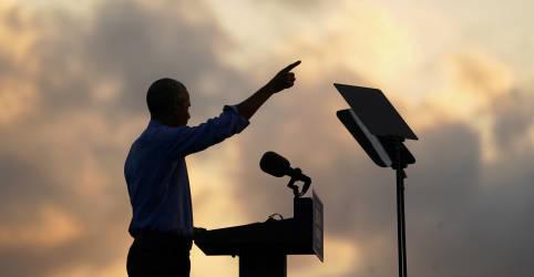 Placeholder - loading - Imagem da notícia Obama entra na campanha de Biden e faz críticas a desempenho de Trump