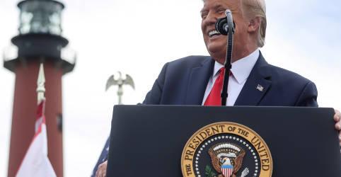 Placeholder - loading - Imagem da notícia Último debate pode ser cartada final para Trump alterar corrida presidencial