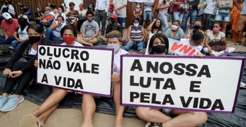 Placeholder - loading - Manifestantes encerram protesto em sede da Vale em Brumadinho