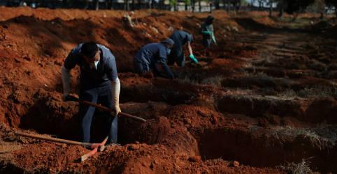 Placeholder - loading - Brasil tem 231 novas mortes por Covid-19, total ultrapassa 157 mil