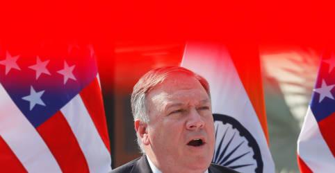 Placeholder - loading - Imagem da notícia Pompeo diz que Índia e EUA cooperam contra todas ameaças, incluindo China