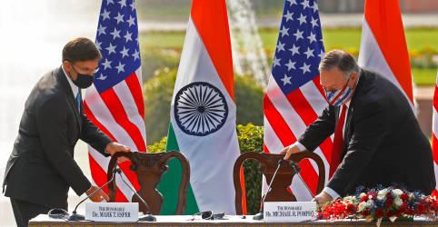Placeholder - loading - Imagem da notícia EUA alertam para ameaça da China e firmam pacto militar com Índia