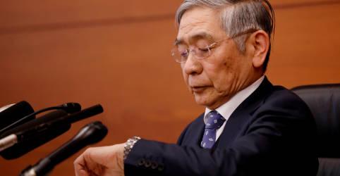 Placeholder - loading - BC do Japão reduz projeções para economia mas indica pausa na política monetária