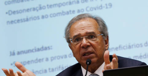 Placeholder - loading - Imagem da notícia Imposto para bancar desoneração está morto, diz Guedes após apontar sua necessidade