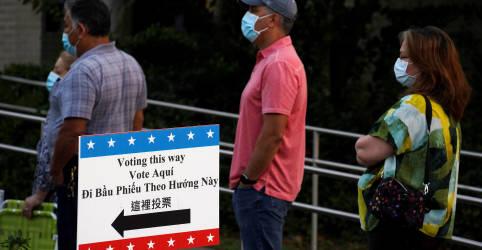 Placeholder - loading - Votos antecipados nos EUA passam de 85 milhões; Texas supera comparecimento de 2016