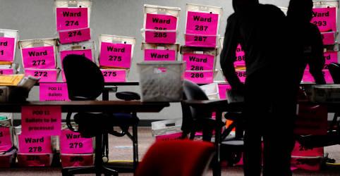 Placeholder - loading - Imagem da notícia SAIBA MAIS-O que pode acontecer se o resultado da eleição dos EUA for contestado?