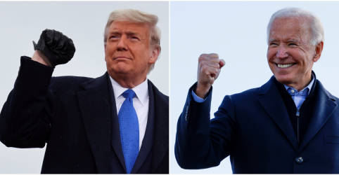 Placeholder - loading - Imagem da notícia Com eleição nos EUA ainda indecisa, Biden rechaça declaração de vitória de Trump