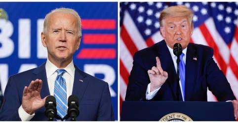 Placeholder - loading - Imagem da notícia Biden se aproxima da vitória e Trump diz falsamente que eleição está sendo 'roubada'