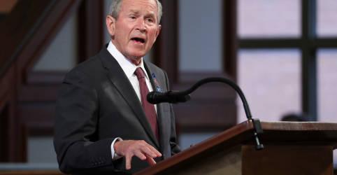 Placeholder - loading - Imagem da notícia Ex-presidente Bush parabeniza Biden por eleição e diz que o resultado é claro