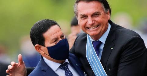 Placeholder - loading - Bolsonaro irá cumprimentar Biden na hora certa, diz Mourão