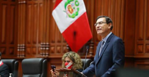 Placeholder - loading - Imagem da notícia Congresso do Peru destitui presidente Vizcarra em meio a alegações de corrupção