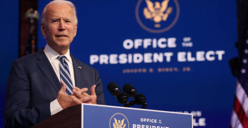 Placeholder - loading - Biden diz que nada impedirá transição de poder nos EUA