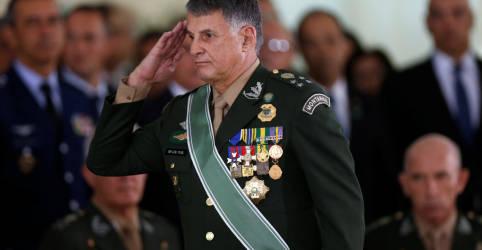 Placeholder - loading - Imagem da notícia Não queremos que a política entre nos quartéis, diz comandante do Exército