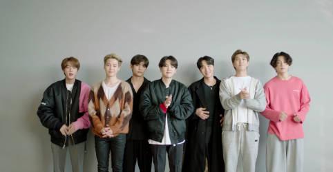 """Placeholder - loading - Imagem da notícia Banda de K-pop BTS marca ano da pandemia com álbum """"BE"""" e single """"Life Goes On"""""""