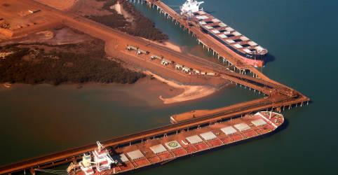 Placeholder - loading - Minério de ferro tem novo recorde na China após previsões mais baixas da Vale