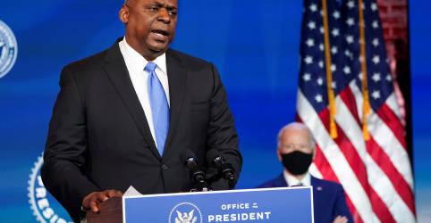 """Placeholder - loading - Imagem da notícia Biden diz ser """"momento certo"""" para primeiro negro no comando do Pentágono"""