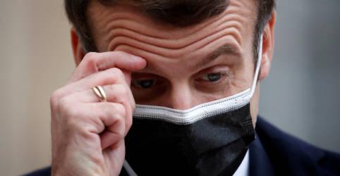 Placeholder - loading - Macron testa positivo para Covid-19 e força isolamento de outros líderes