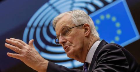 Placeholder - loading - Imagem da notícia Barnier diz que acordo comercial do Brexit só tem mais algumas horas