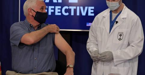 Placeholder - loading - Imagem da notícia Vice dos EUA recebe vacina contra Covid-19 quando mortes no país superam 3 mil pelo 3º dia