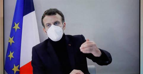 Placeholder - loading - Imagem da notícia França precisa intensificar vigilância contra Covid-19, diz Macron