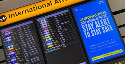 Placeholder - loading - Imagem da notícia Governadores do NE pedem suspensão de voos de Reino Unido e outros países para conter coronavírus