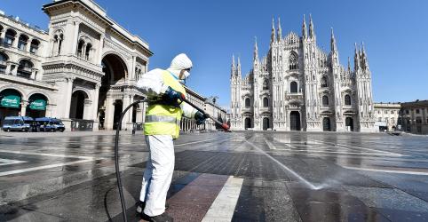 Número de mortes em um dia na Itália diminui, mas novos casos aceleram